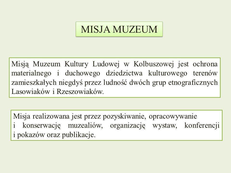 Misją Muzeum Kultury Ludowej w Kolbuszowej jest ochrona materialnego i duchowego dziedzictwa kulturowego terenów zamieszkałych niegdyś przez ludność d