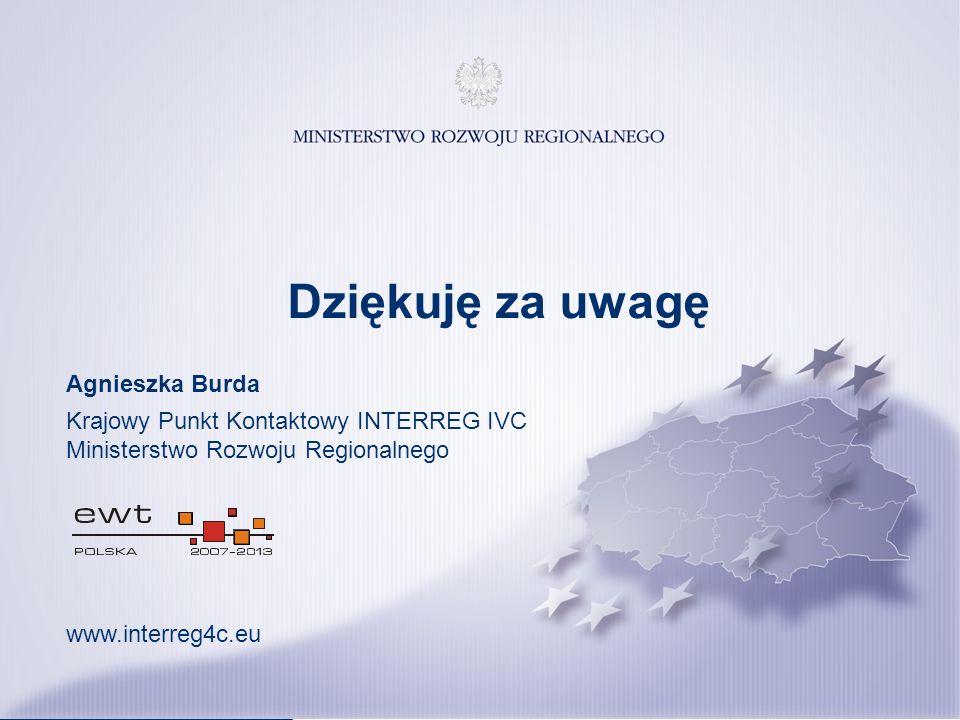 20 Katowice, 14 listopada 2013 r. Dziękuję za uwagę Agnieszka Burda Krajowy Punkt Kontaktowy INTERREG IVC Ministerstwo Rozwoju Regionalnego www.interr