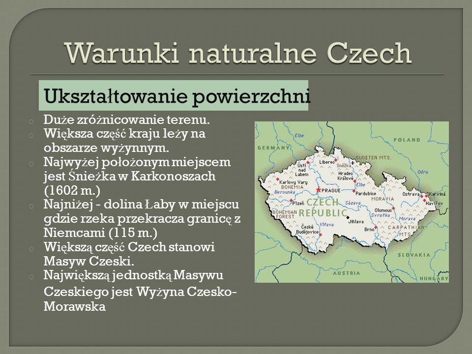 Umiarkowany, ciep ł y, W Masywie Czeskim i pn.