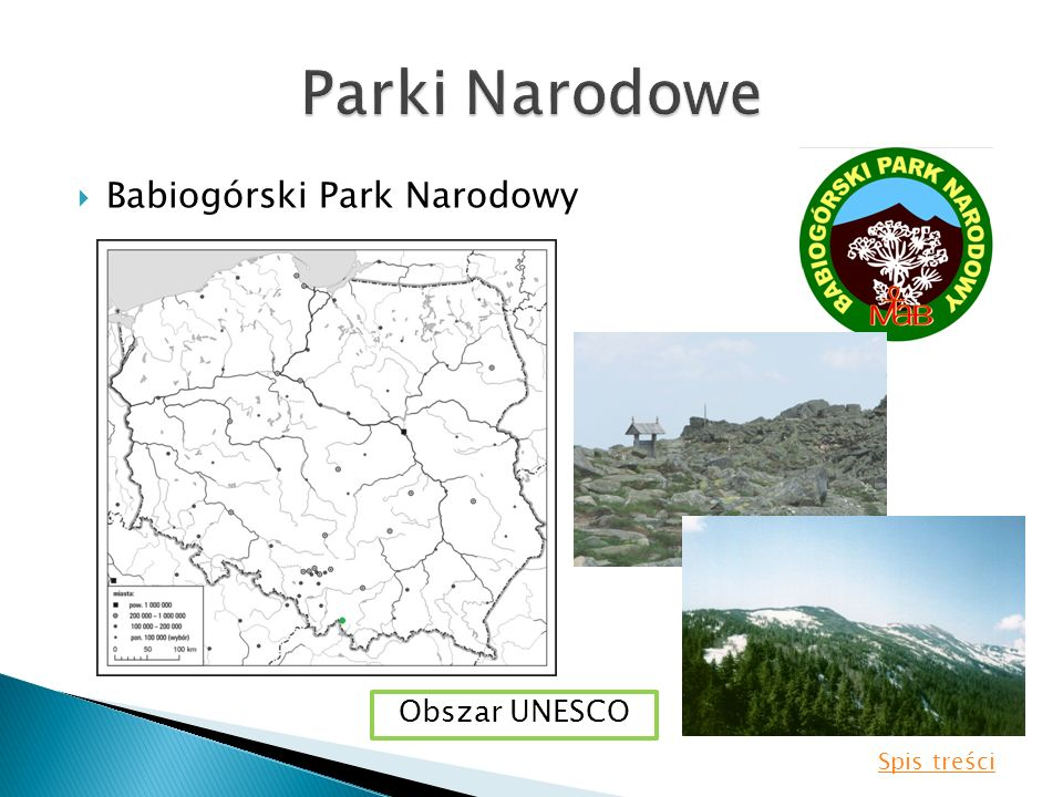 Babiogórski Park Narodowy Obszar UNESCO Spis treści
