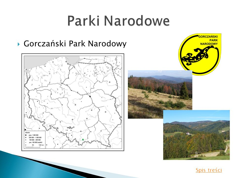 Gorczański Park Narodowy Spis treści