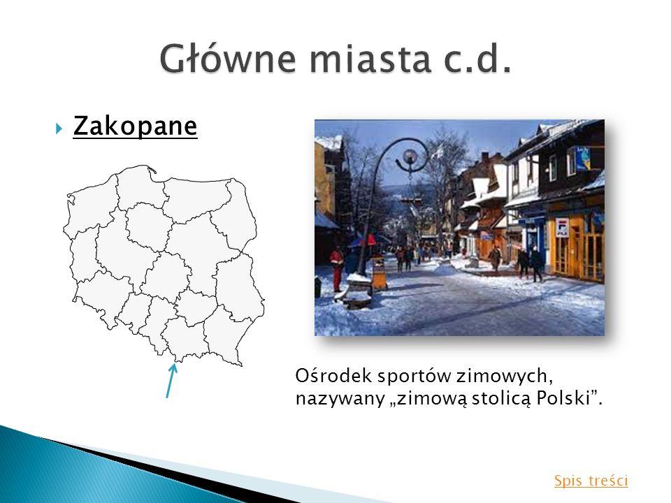 Zakopane Ośrodek sportów zimowych, nazywany zimową stolicą Polski. Spis treści