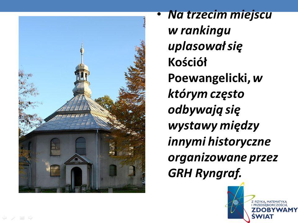 Na trzecim miejscu w rankingu uplasował się Kościół Poewangelicki, w którym często odbywają się wystawy między innymi historyczne organizowane przez G
