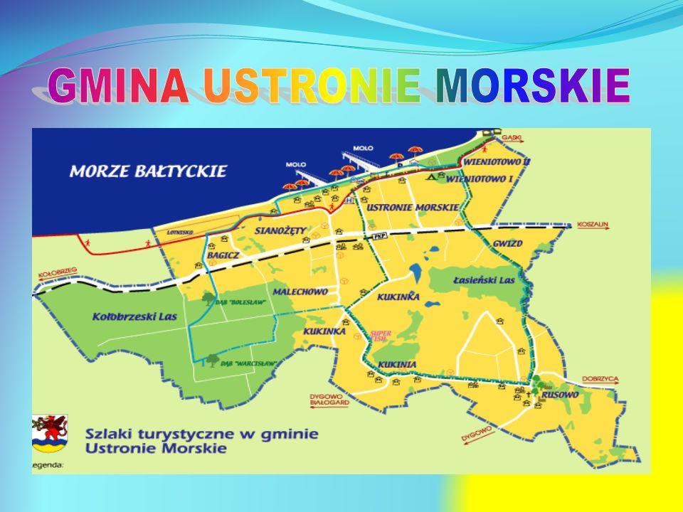 Atrakcyjny kurort położony nad Morzem Bałtyckim w zachodniopomorskim, pomiędzy Kołobrzegiem, a Koszalinem, Jedna z najbardziej znanych miejscowości turystyczno- uzdrowiskowych polskiego wybrzeża, charakteryzująca się piękną plaża i malowniczą okolicą.