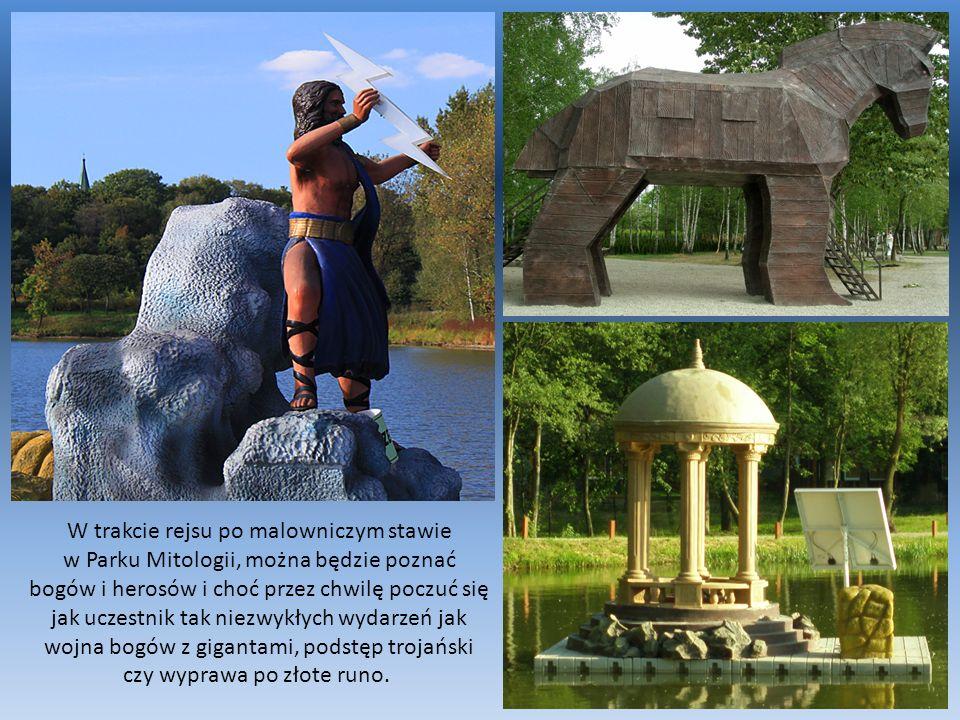 W trakcie rejsu po malowniczym stawie w Parku Mitologii, można będzie poznać bogów i herosów i choć przez chwilę poczuć się jak uczestnik tak niezwykł