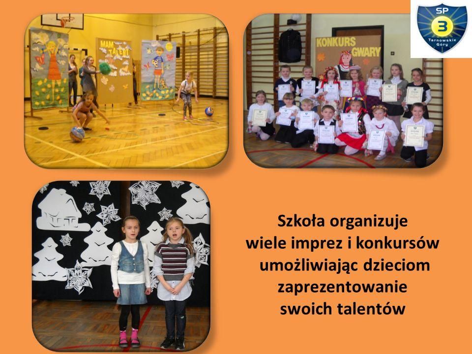 Szkoła organizuje wiele imprez i konkursów umożliwiając dzieciom zaprezentowanie swoich talentów
