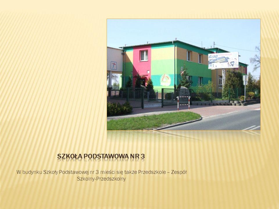 W budynku Szkoły Podstawowej nr 3 mieści się także Przedszkole – Zespół Szkolny-Przedszkolny