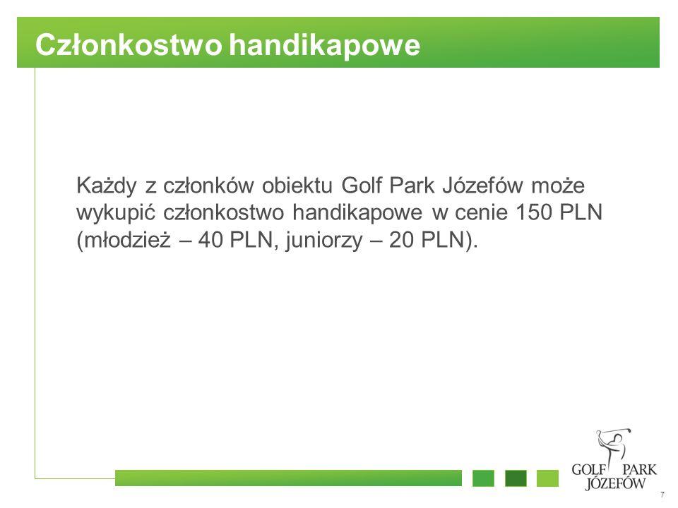 8 Kontakt Piotr Misiewicz Golf Supervisor Holiday Inn Warszawa Józefów / Golf Park Józefów tel.