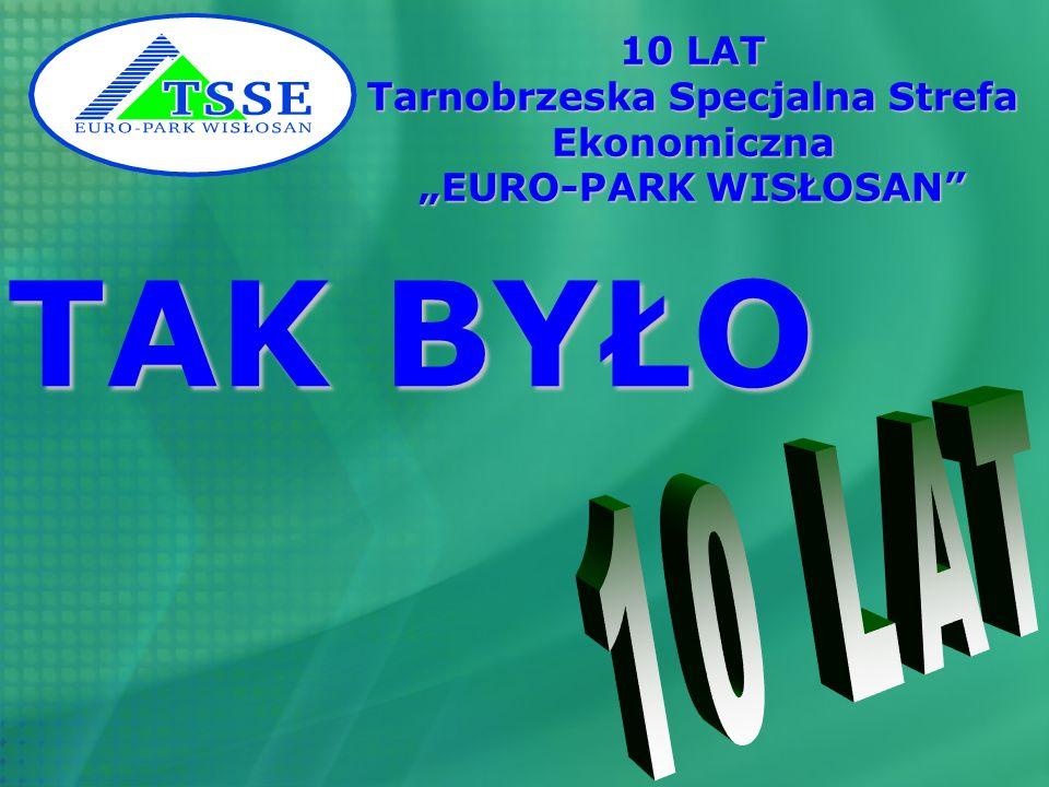 10 LAT TSSE EURO-PARK WISŁOSAN 1997 – 2007 Podziękowania i Gratulacje