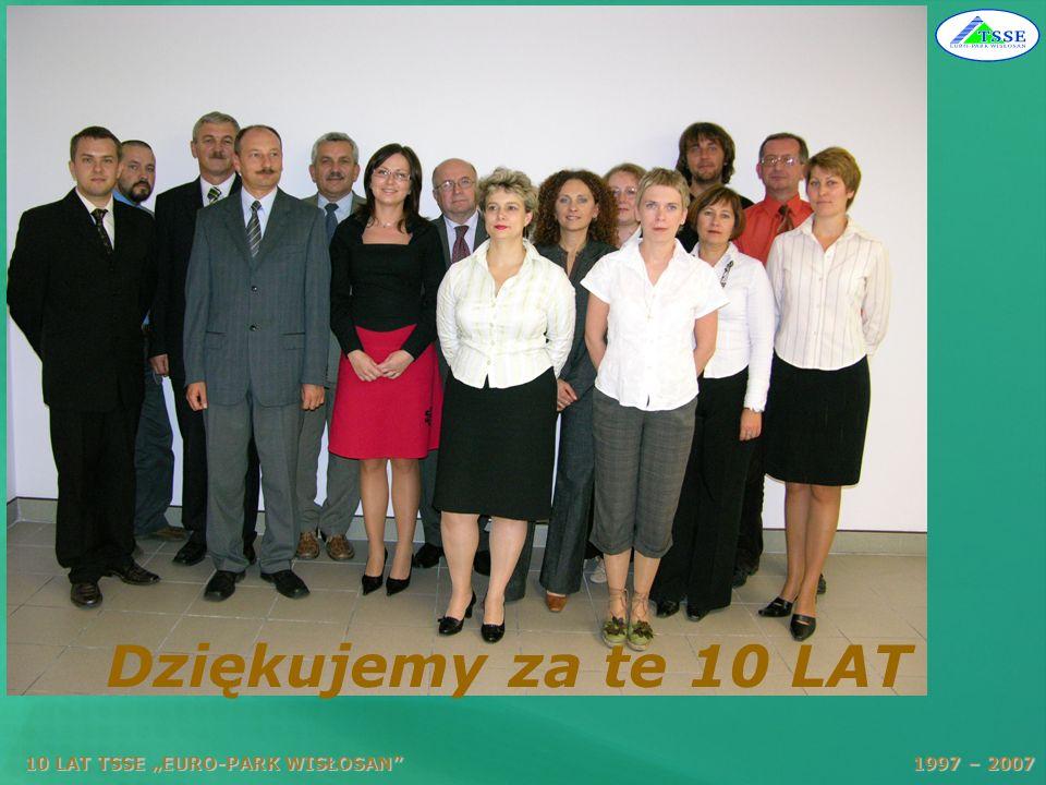 10 LAT TSSE EURO-PARK WISŁOSAN 1997 – 2007 Dziękujemy za te 10 LAT