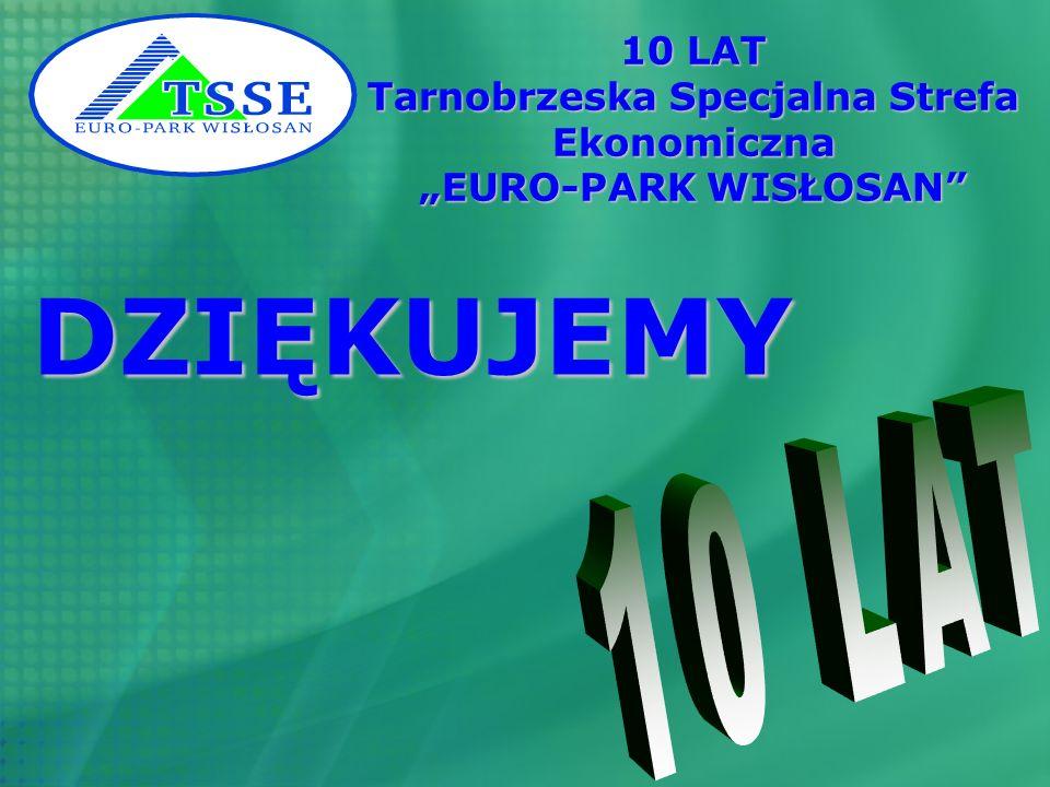 10 LAT Tarnobrzeska Specjalna Strefa Ekonomiczna EURO-PARK WISŁOSAN DZIĘKUJEMY