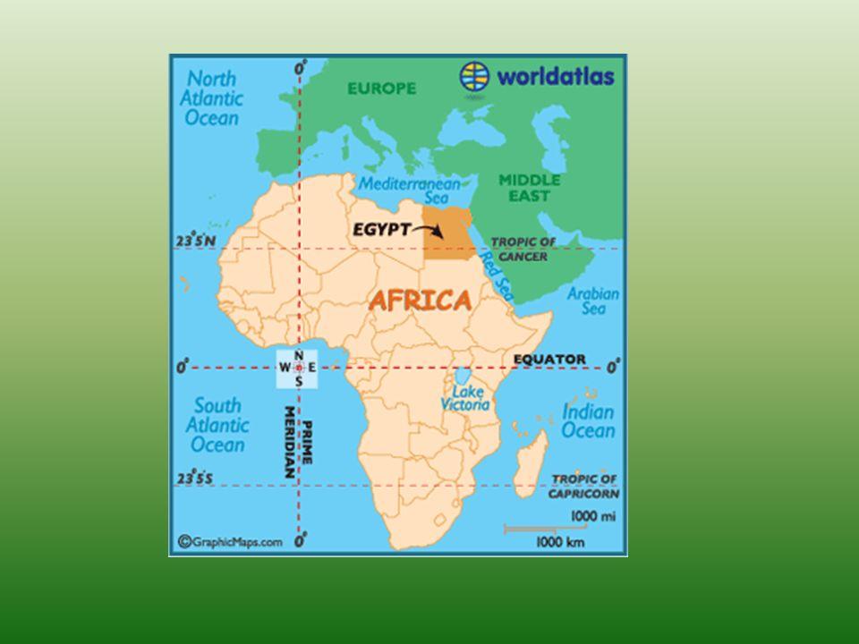 Podstawowe informacje Długość granic: całkowita 2689 km (w tym: Strefa Gazy 11 km, Izrael 255 km, Libia 1150 km, Sudan 1273 km) Długość wybrzeża: 2450 km Najwyższy punkt: Góra Świętej Katarzyny 2629 m n.p.m.