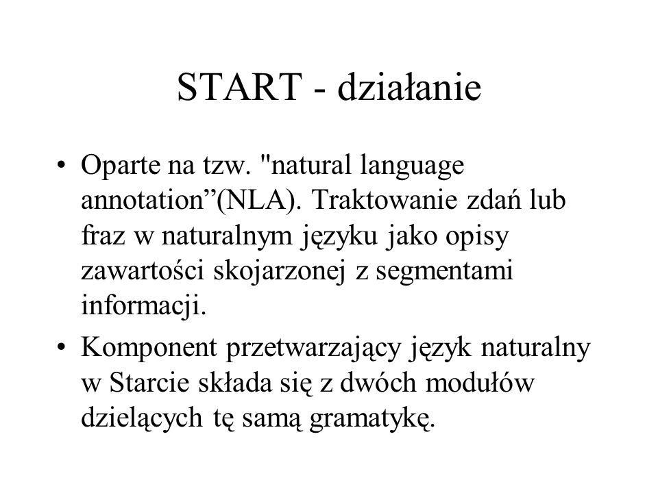 START - działanie Oparte na tzw.