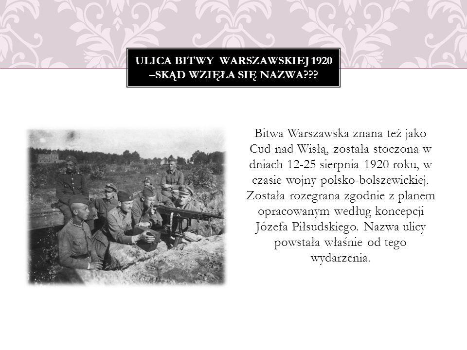 Bitwa Warszawska znana też jako Cud nad Wisłą, została stoczona w dniach 12-25 sierpnia 1920 roku, w czasie wojny polsko-bolszewickiej. Została rozegr
