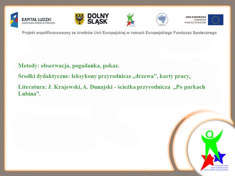 I.Zajęcia terenowe na ścieżce przyrodniczej,,Po parkach Lubina 1.