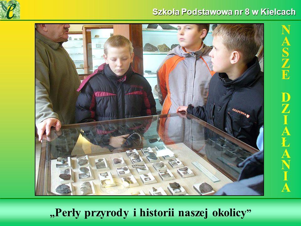 Wybrane działania w ramach zdobywania Zielonego Certyfikatu Perły przyrody i historii naszej okolicy NASZE DZIAŁANIANASZE DZIAŁANIA Szkoła Podstawowa nr 8 w Kielcach