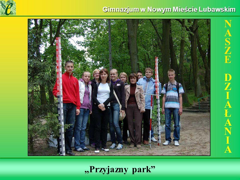 Wybrane działania w ramach zdobywania Zielonego Certyfikatu Przyjazny park NASZE DZIAŁANIANASZE DZIAŁANIA Gimnazjum w Nowym Mieście Lubawskim