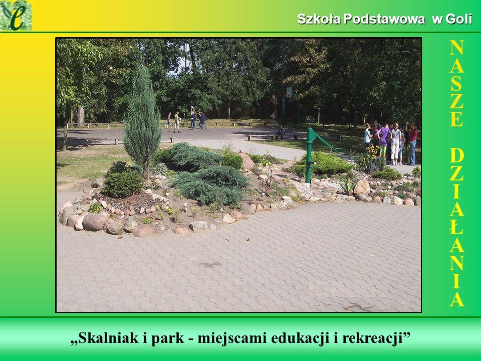 Wybrane działania w ramach zdobywania Zielonego Certyfikatu Skalniak i park - miejscami edukacji i rekreacji NASZE DZIAŁANIANASZE DZIAŁANIA Szkoła Podstawowa w Goli