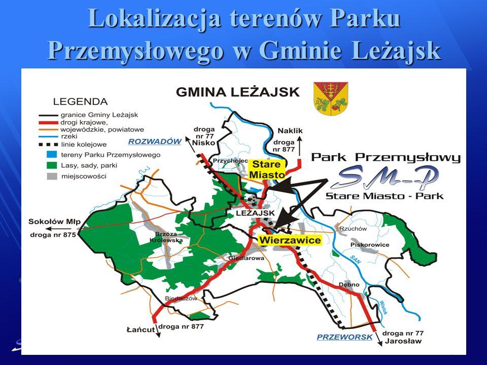Lokalizacja terenów Parku Przemysłowego w Gminie Leżajsk