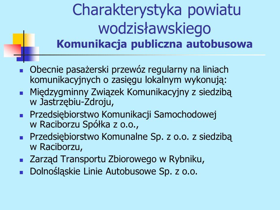 Obecnie pasażerski przewóz regularny na liniach komunikacyjnych o zasięgu lokalnym wykonują: Międzygminny Związek Komunikacyjny z siedzibą w Jastrzębi