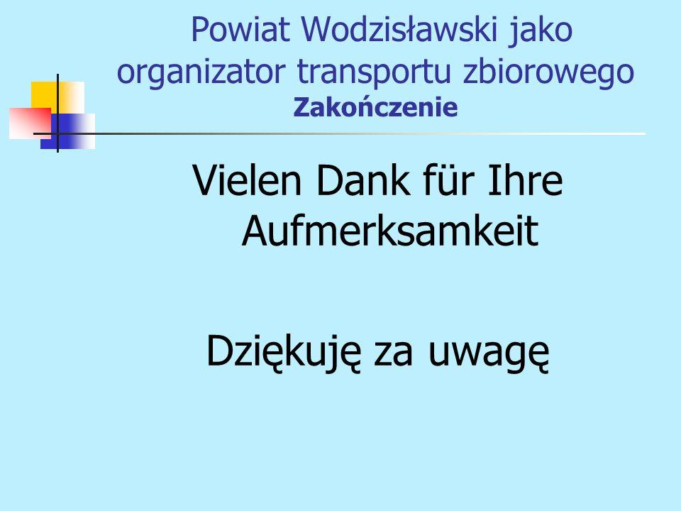 Vielen Dank für Ihre Aufmerksamkeit Dziękuję za uwagę Powiat Wodzisławski jako organizator transportu zbiorowego Zakończenie