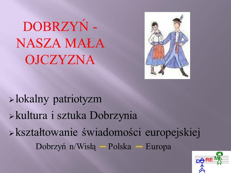 DOBRZYŃ - NASZA MAŁA OJCZYZNA lokalny patriotyzm kultura i sztuka Dobrzynia kształtowanie świadomości europejskiej Dobrzyń n/Wisłą Polska Europa