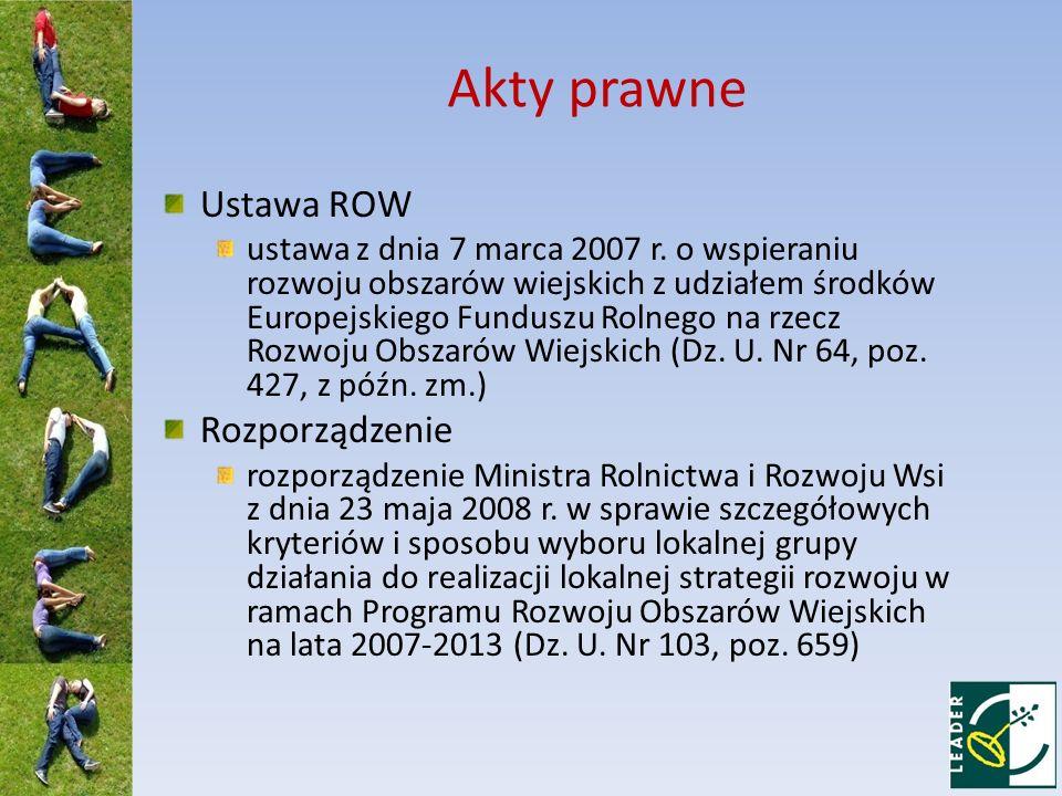 Akty prawne Ustawa ROW ustawa z dnia 7 marca 2007 r.