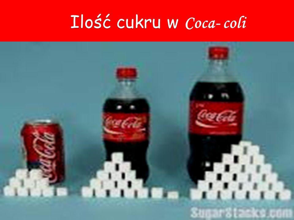 Ilość cukru w Ilość cukru w Coca- coli