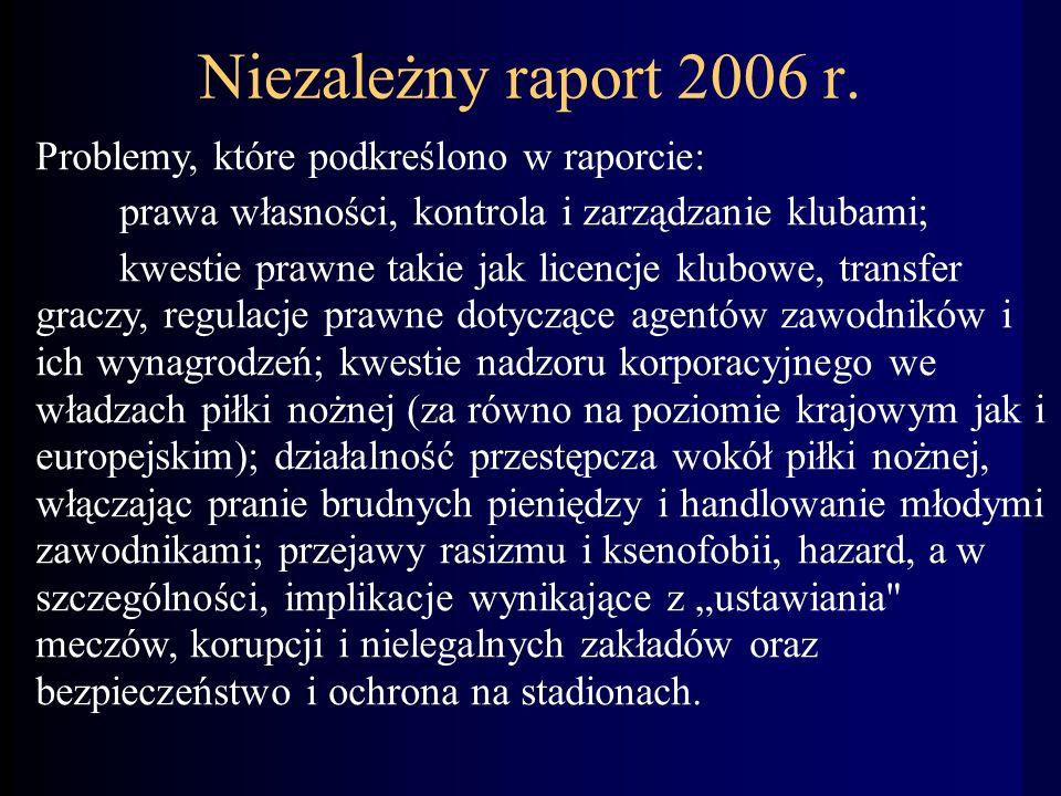 Niezależny raport 2006 r.