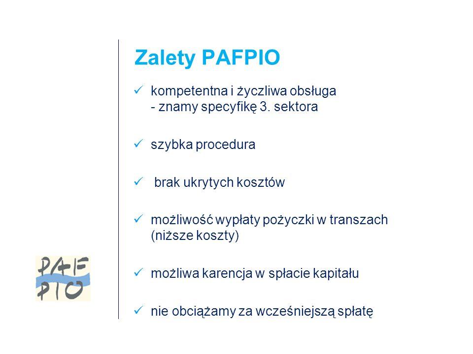 Zalety PAFPIO kompetentna i życzliwa obsługa - znamy specyfikę 3.