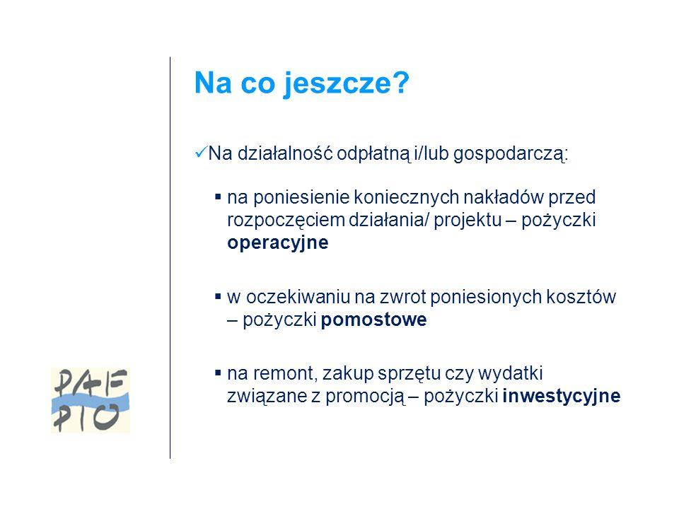 Zapraszamy do współpracy! Fundusz Pożyczkowy PAFPIO www.pafpio.pl biuro@pafpio.pl 22/ 542 41 88