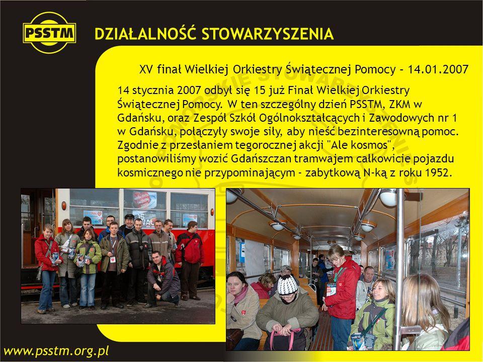 XV finał Wielkiej Orkiestry Świątecznej Pomocy – 14.01.2007 14 stycznia 2007 odbył się 15 już Finał Wielkiej Orkiestry Świątecznej Pomocy. W ten szcze