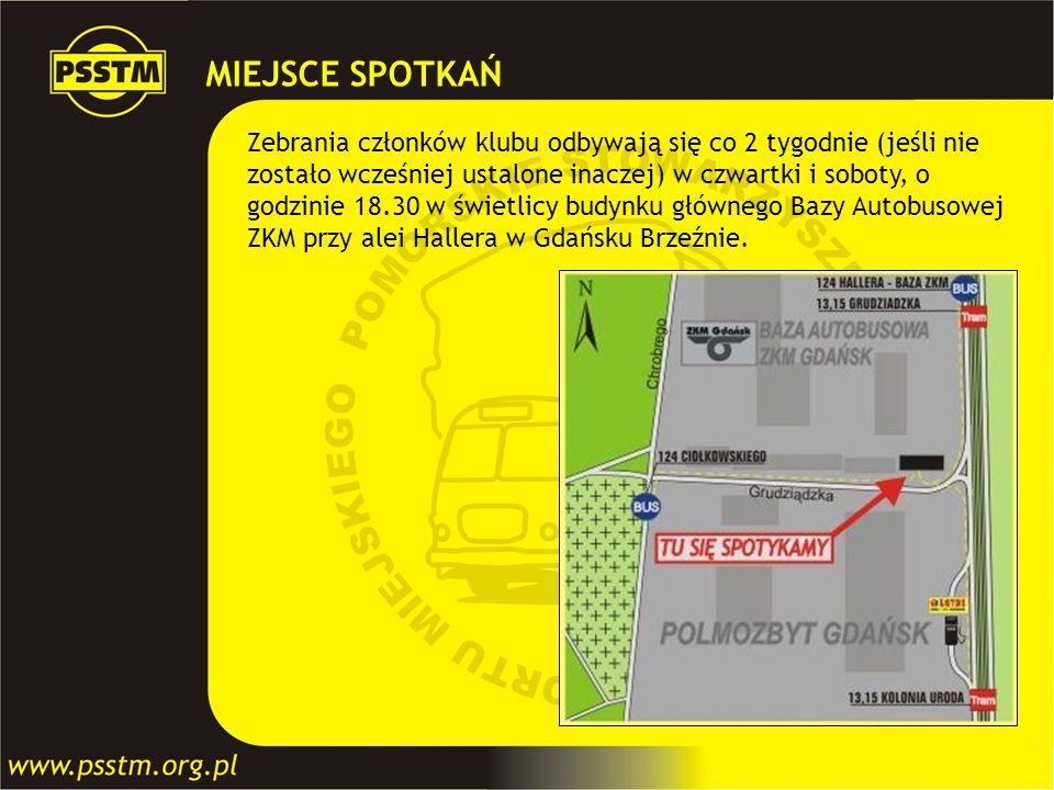 MIEJSCE SPOTKAŃ Zebrania członków klubu odbywają się co 2 tygodnie (jeśli nie zostało wcześniej ustalone inaczej) w czwartki i soboty, o godzinie 18.3