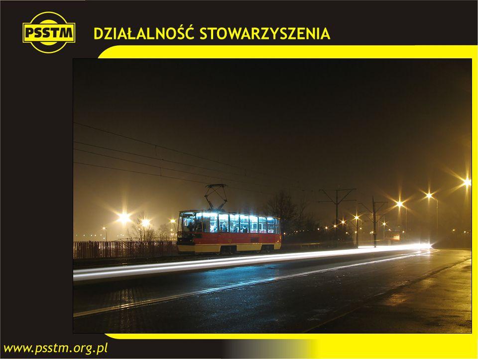 Nocna impreza tramwajowa historycznym wagonem 105N 1/2 grudnia 2006 W nocy z 1/2 grudnia 2006 r. nasz Klub, przy współpracy z Zakładem Komunikacji Mie