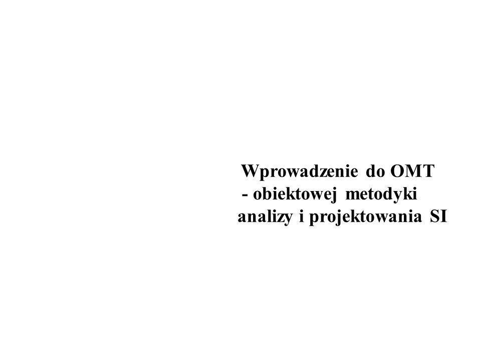 Wprowadzenie do OMT - obiektowej metodyki analizy i projektowania SI