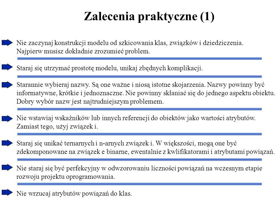 Zalecenia praktyczne (2) Użyj kwalifikowanych związeków, jeżeli jest to możliwe.