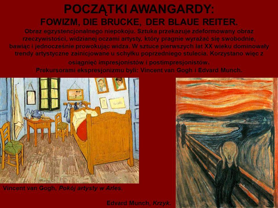 FOWIZM Wzorcem dla ekspresjonistów była twórczość van Gogha i Muncha.