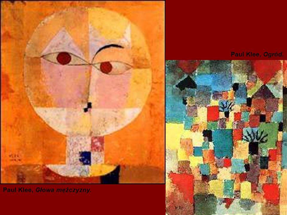 Paul Klee, Głowa mężczyzny. Paul Klee, Ogród.