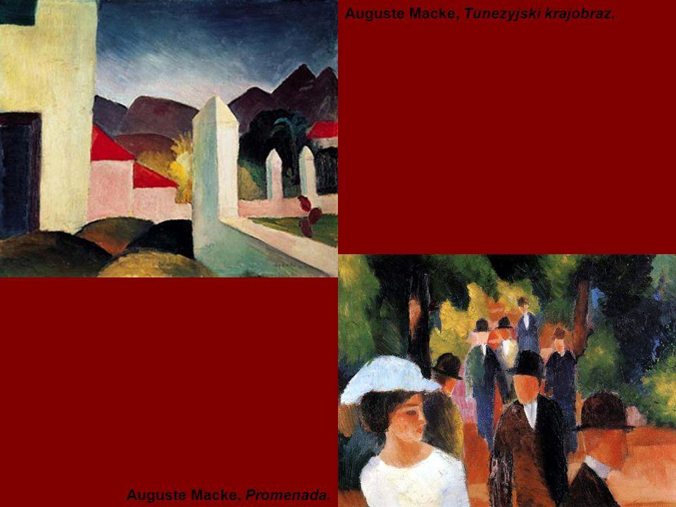 Auguste Macke, Tunezyjski krajobraz. Auguste Macke, Promenada.