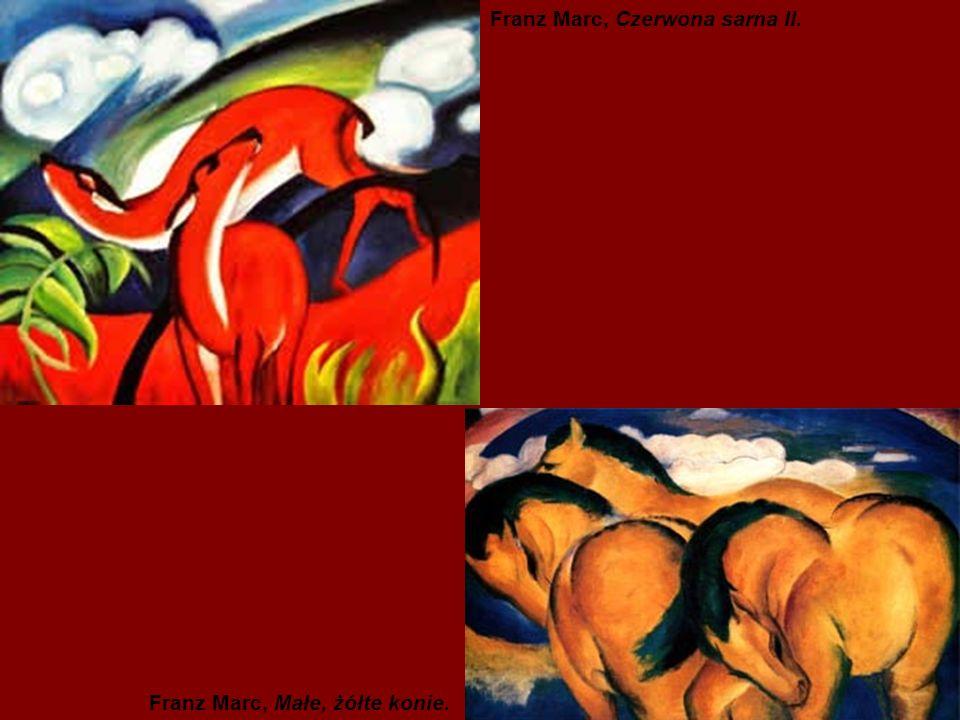 Franz Marc, Czerwona sarna II. Franz Marc, Małe, żółte konie.
