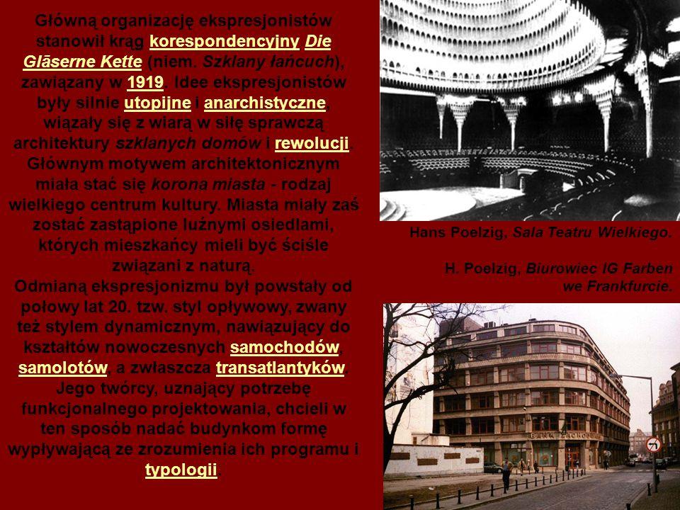 Główną organizację ekspresjonistów stanowił krąg korespondencyjny Die Glāserne Kette (niem.