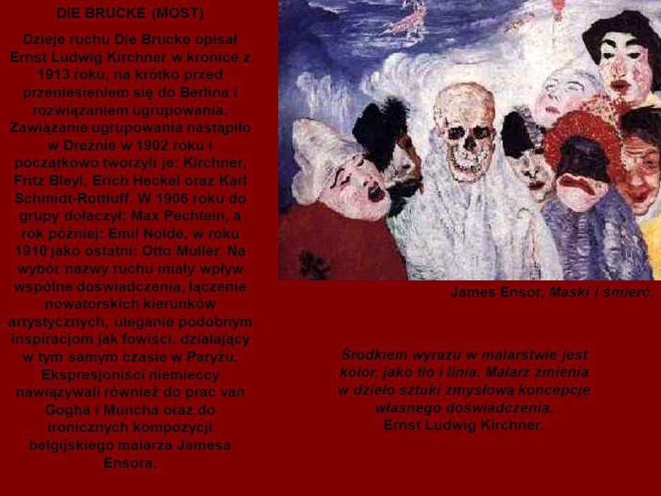 Niemieccy ekspresjoniści sięgali do swoich romantycznych korzeni, akcentując swobodę twórczą, wyrażającą się subiektywnym podejściem do kwestii formy i koloru.