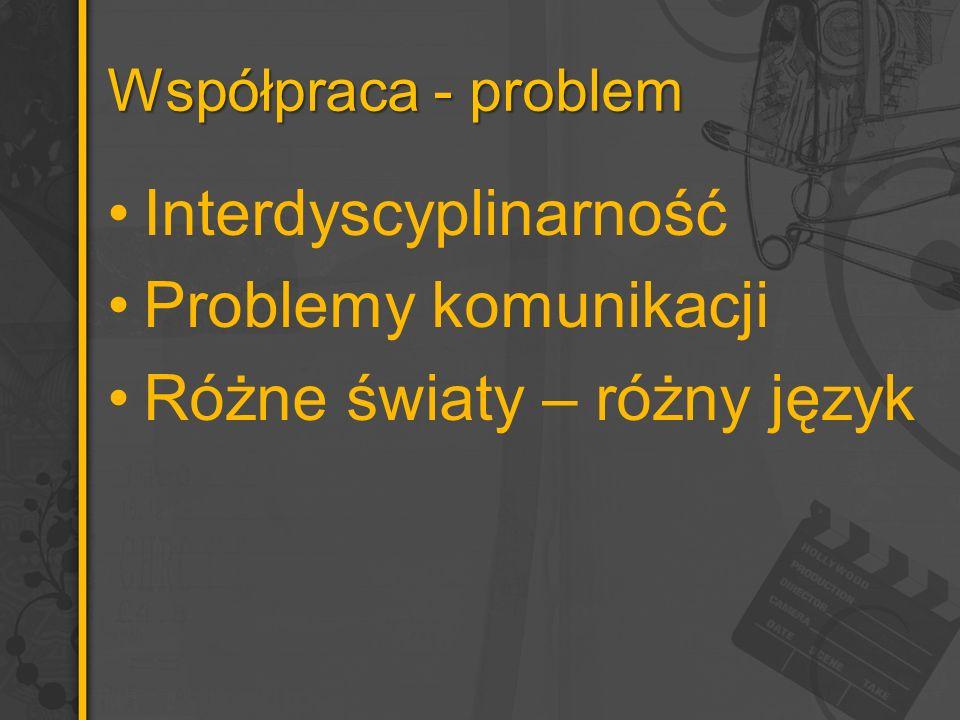 Współpraca - problem Interdyscyplinarność Problemy komunikacji Różne światy – różny język