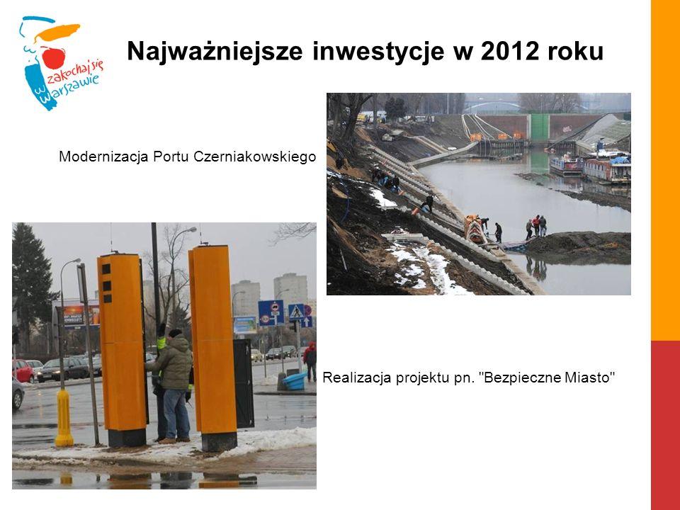 Modernizacja Portu Czerniakowskiego Realizacja projektu pn.