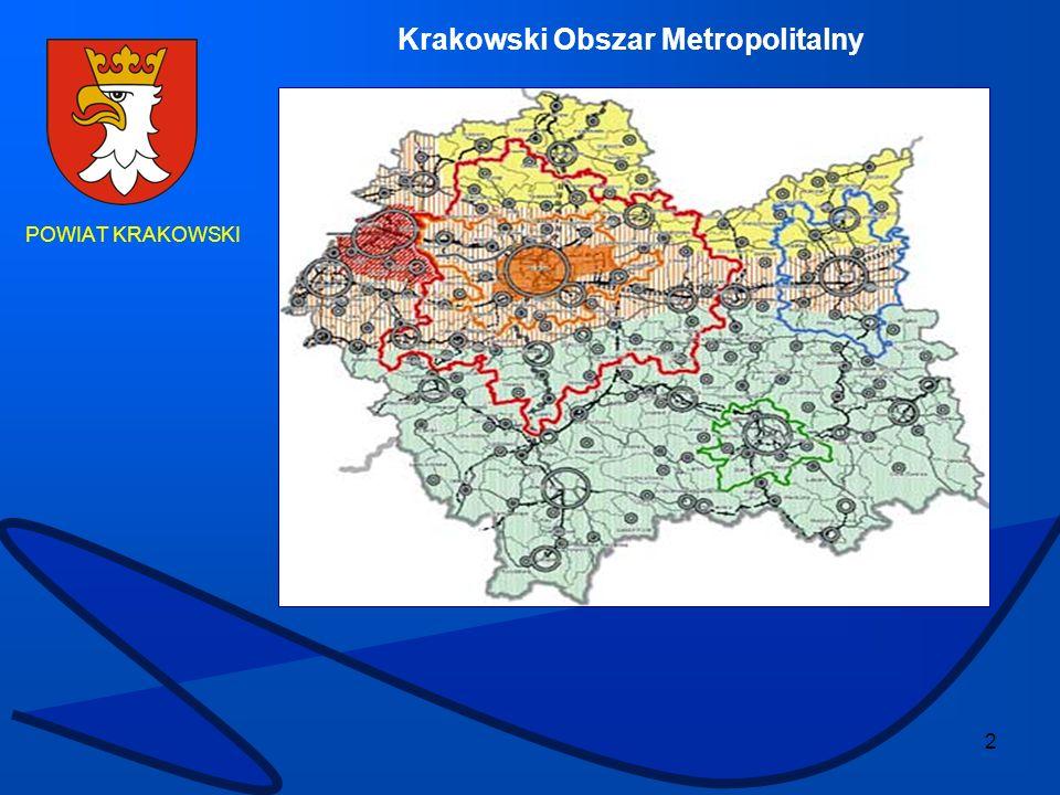 23 POWIAT KRAKOWSKI Obecnie oczyszczalnie krakowskie odbierają ścieki z gminy Wielka Wieś i Zabierzów oraz gminy Zielonki.
