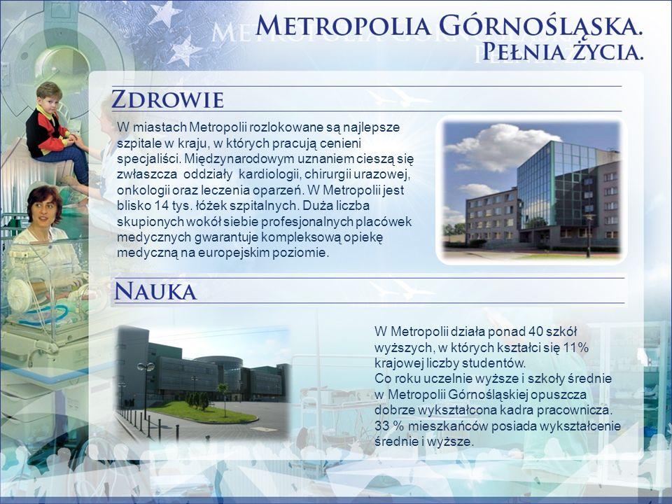 W Metropolii działa ponad 40 szkół wyższych, w których kształci się 11% krajowej liczby studentów.