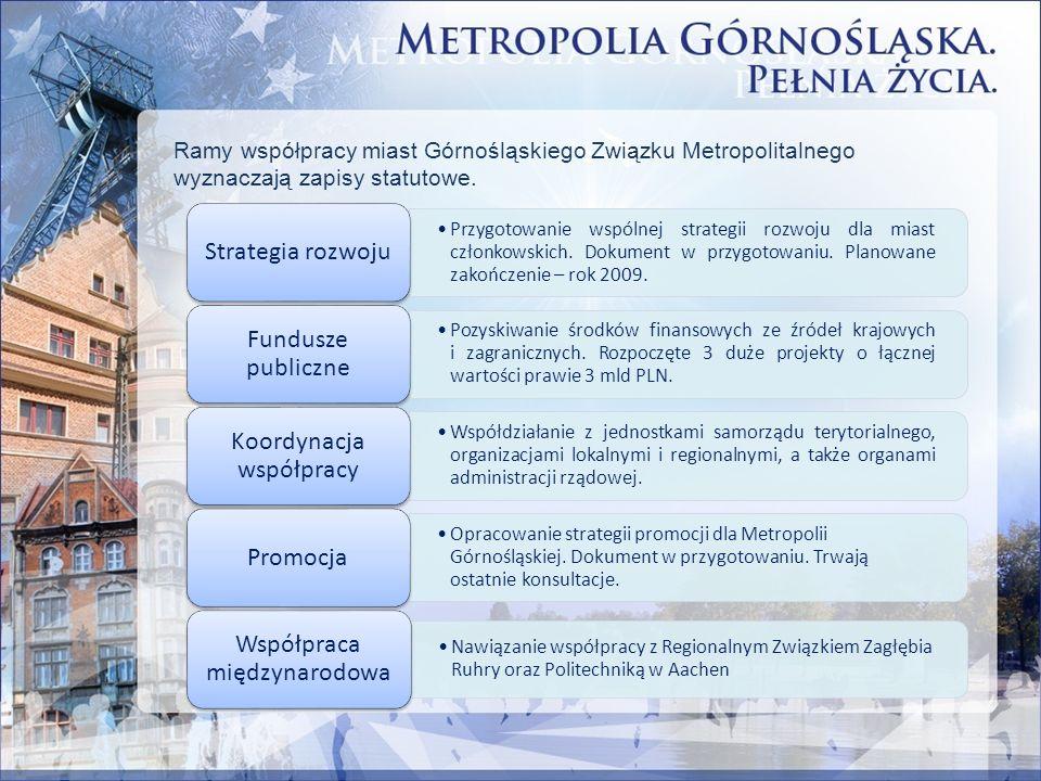 Ramy współpracy miast Górnośląskiego Związku Metropolitalnego wyznaczają zapisy statutowe. Przygotowanie wspólnej strategii rozwoju dla miast członkow