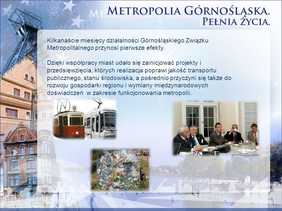 Kilkanaście miesięcy działalności Górnośląskiego Związku Metropolitalnego przynosi pierwsze efekty. Dzięki współpracy miast udało się zainicjować proj