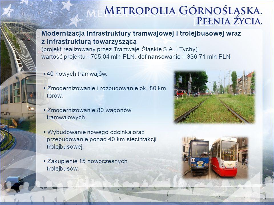 Modernizacja infrastruktury tramwajowej i trolejbusowej wraz z infrastrukturą towarzyszącą (projekt realizowany przez Tramwaje Śląskie S.A. i Tychy) w