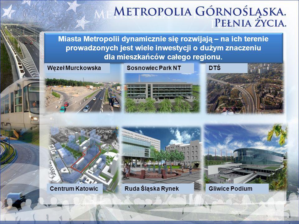 Miasta Metropolii dynamicznie się rozwijają – na ich terenie prowadzonych jest wiele inwestycji o dużym znaczeniu dla mieszkańców całego regionu. Węze